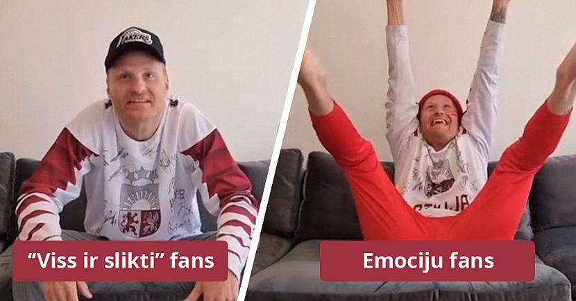 Zeltiņscaron tajā atspoguļojis... Autors: matilde Zeltiņš asprātīgā video parāda, cik dažādi ir Latvijas hokeja fani