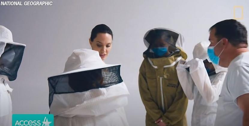 Gatavoscaronanās scaronai... Autors: matilde Lai fotografētos ar bitēm, Andželīna Džolija nemazgājās trīs dienas