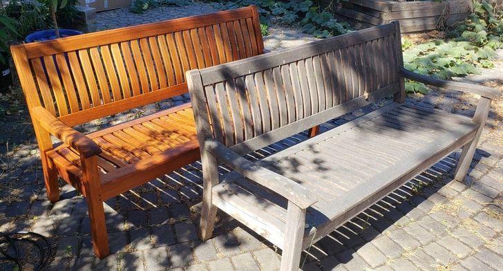 Dārza mēbeles mēdz apaugt ar... Autors: Lestets Kā tīrīšana var mainīt lietu izskatu
