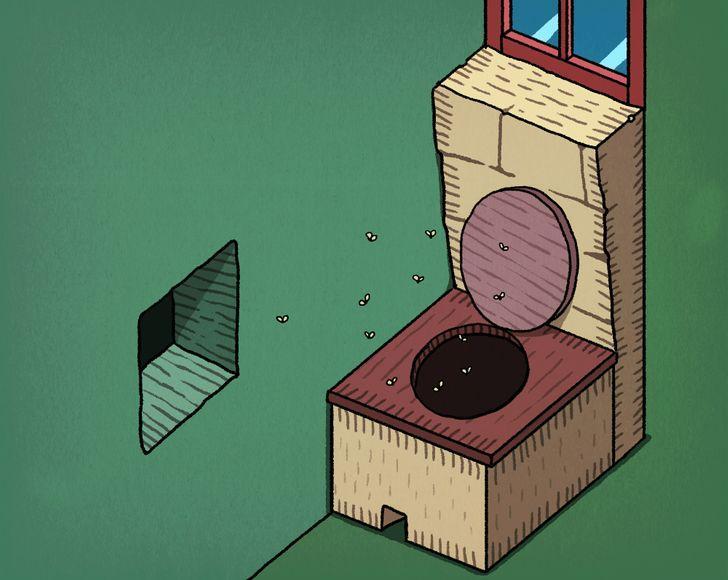 """Tas bija infekcijas slimību... Autors: Lestets 10 fakti par senajām """"atpūtas telpām"""" jeb tualetēm un vannasistabām"""