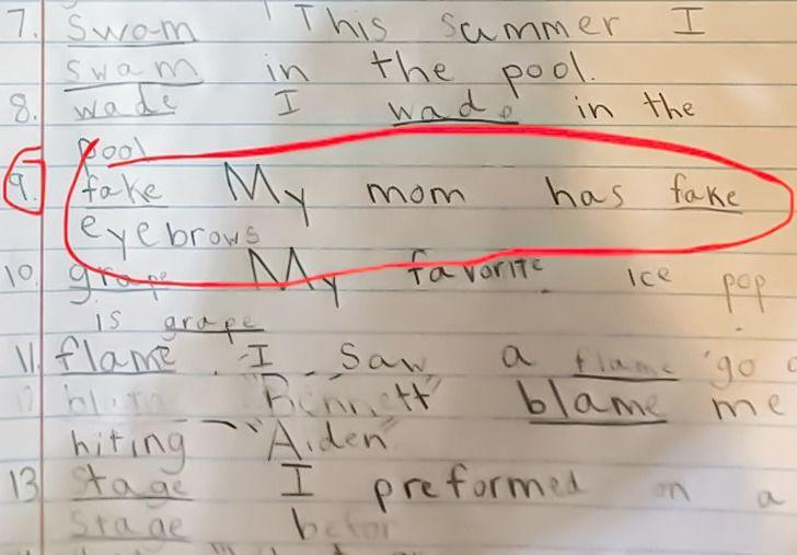 Apvilktais teksts Manai mammai... Autors: The Diāna 20 reizes, kad bērnu izdoma mājasdarbu pildīšanā bija patiešām smieklīga