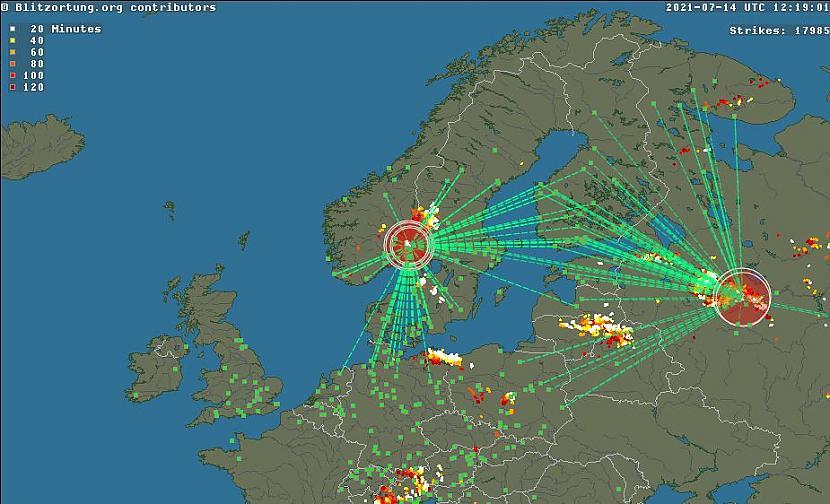 BLITZORTUNGORGScaronī ir otra... Autors: matilde Tev patīk negaiss? Internetā ir pieejamas kartes, kur to var vērot reālajā laikā