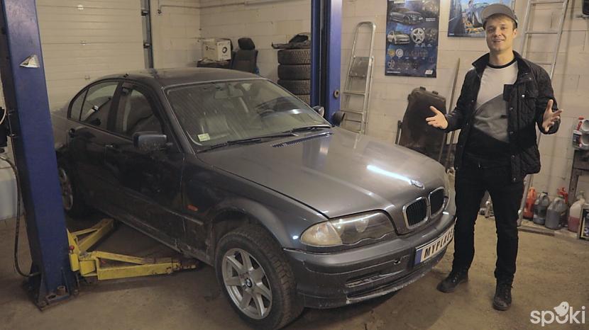 Atbraucot uz garāžu paceļot... Autors: MyPlace Tā nebija prātīga doma / BMW e46 aizdegās / AUTOVLOGS #11