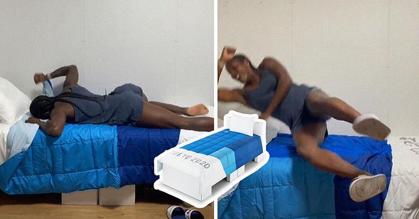 Regbistes nolēma izklaidēties... Autors: matilde VIDEO: Olimpiskā ciemata «antiseksa» gultu izturību pārbauda ASV sportistes