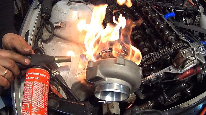 Turbīna arī quotļotiquot... Autors: MyPlace Kas notika ar 500hp turbo BMW e46 ?! VIDEO Autovlogs #12