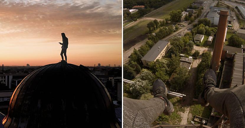 Arī tepat Latvijā ir savi... Autors: matilde Riga Rooftops: jaunieši, kuri slepus iekaro pilsētas augstākos jumtus