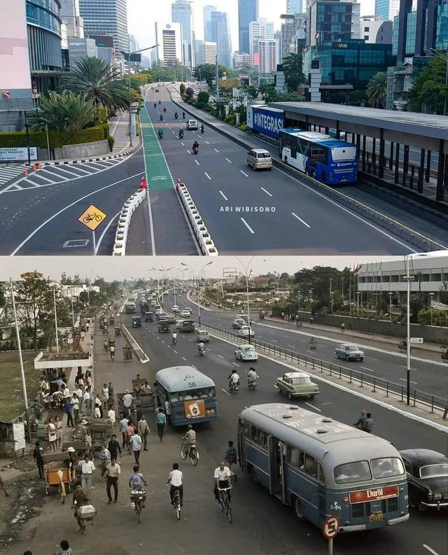 Džakarta Indonēzija 1971 g... Autors: Lestets Toreiz un tagad: Kā laika gaitā ir mainījušās šīs vietas?