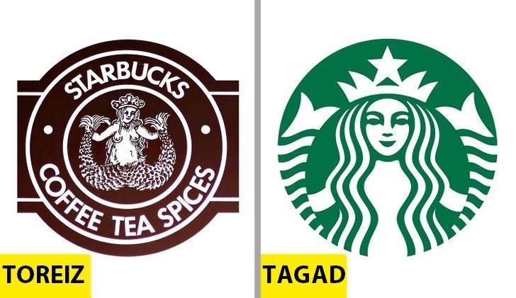 StarbucksOriģināla versija nāk... Autors: Lestets Kā pēdējo 50 gadu laikā ir mainījušies slavenu brendu logo?