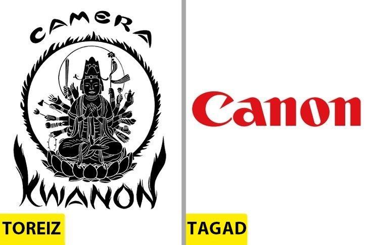 CanonSākotnējais logo radās... Autors: Lestets Kā pēdējo 50 gadu laikā ir mainījušies slavenu brendu logo?